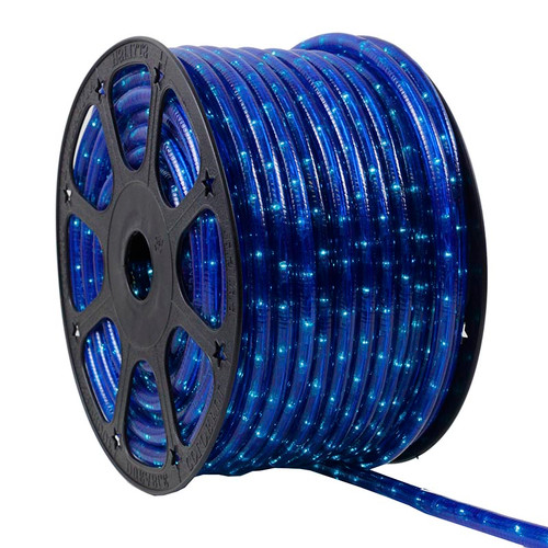 120V 3 Wire Incandescent Blue Chasing Rope Light - 150 Ft