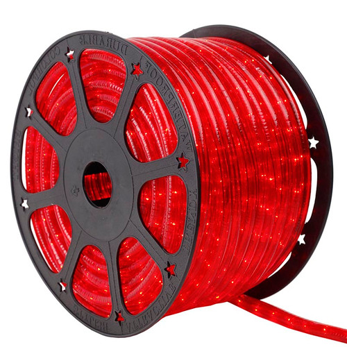 12V 2 Wire Red Incandescent Rope Light - 150 Ft