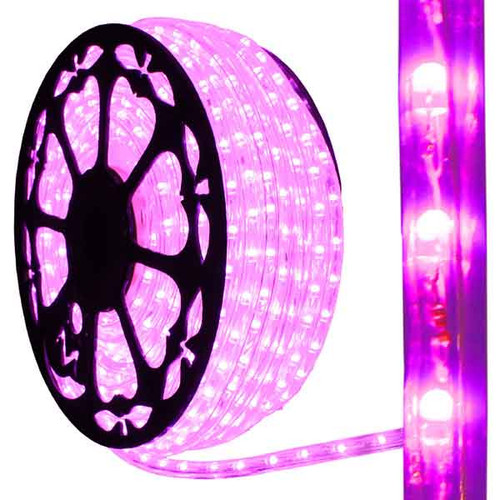 120V Dimmable LED Pink Type 513 Rope Light - 150ft - 513PRO-SERIES