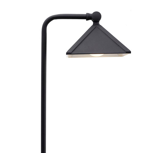 Brass Architect Shade Pathway Area Light PPG028 Black (Full View)