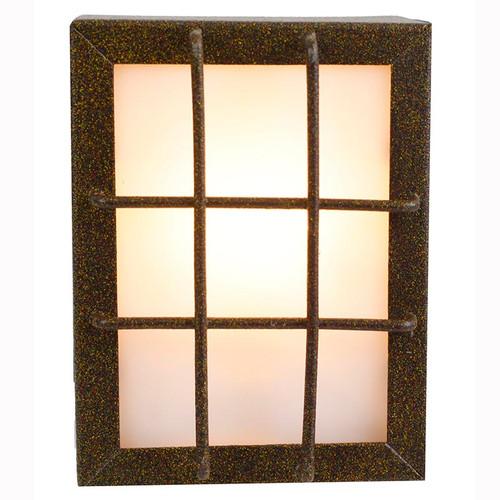 """12V LED 4"""" Segmented Window Stamped Brass Deck Light PDLED51"""