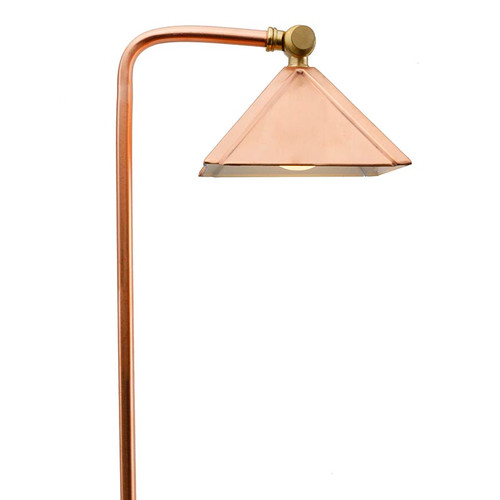 LED Raw Copper Pyramid Pathway Area Light LED-PPG028C Full View