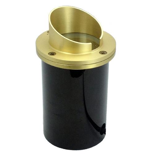 12V Raw Brass Angle Shield In Ground Light NLWE-0085-BR