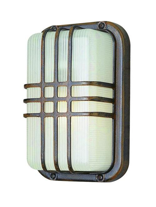1 Light Outdoor Bulkhead 41104RT Rust