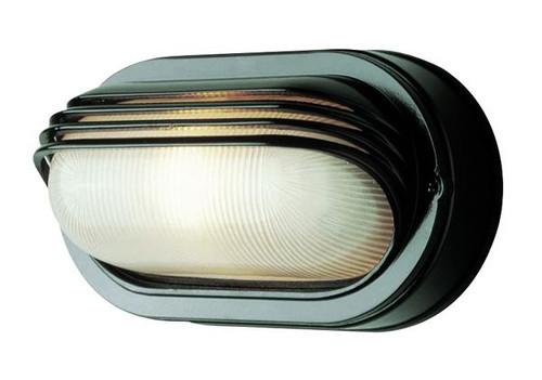 1 Light Outdoor Bulkhead 4123BK Black