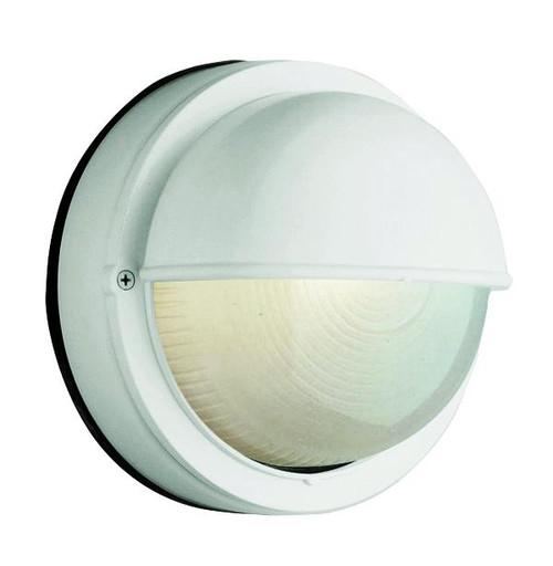 1 Light Outdoor Bulkhead 4121WH White