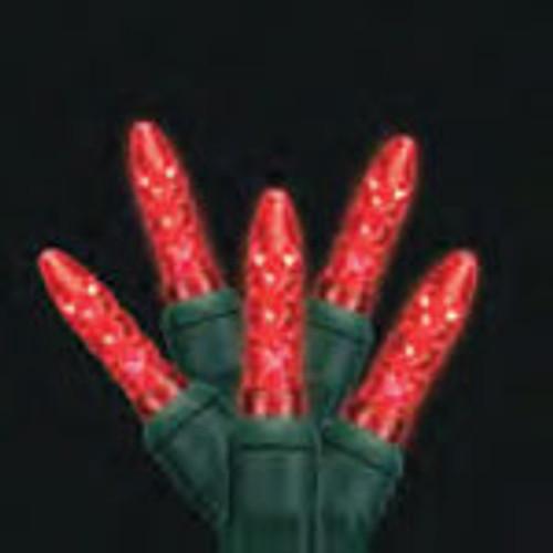 Mini LED Light Strings shown in red