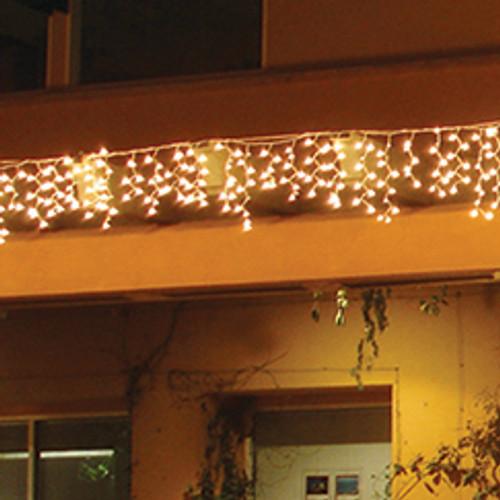 LED Warm White 9.5' Icicle Light String (in scene)