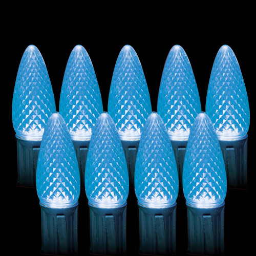 LED Blue Faceted C9 Light Bulbs (25 count)
