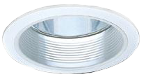 "6"" PL Single Recessed Lighting Trim CF54 Chrome with White"