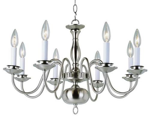 8 Light Williamsburg Chandelier 10081BN Nickel