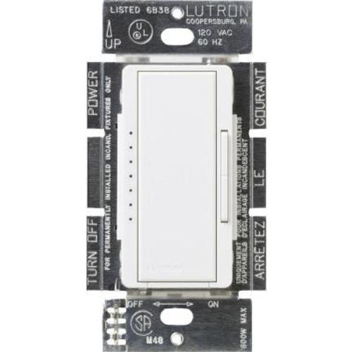 150w Maestro Single Pole 3 Way Multi Location Digital Dimmer Light Switch (shown in white)