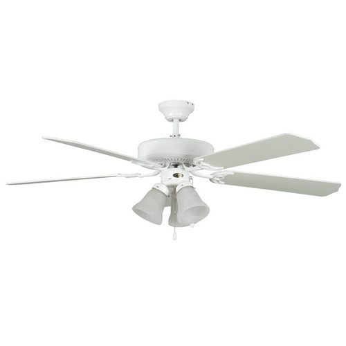 """52"""" Heritage Home White Ceiling Fan"""