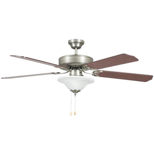 "52"" Heritage Square Satin Nickel Ceiling Fan"