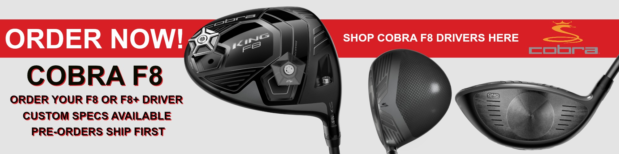 2018 Cobra King F8 Driver is available at Just Say Golf