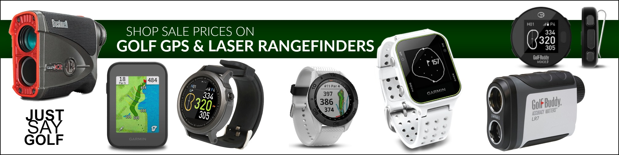 Golf GPS and Golf Rangefinders banner