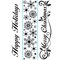 "Darice 1 1/2"" x 5 3/4"" Embossing Folder Set - Seasonal Words"