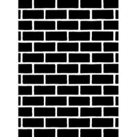 Darice A2 Embossing Folder - Bricks