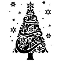 Darice A2 Embossing Folder - Christmas Tree 2
