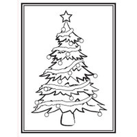 Darice A2 Embossing Folder - Christmas Tree Frame