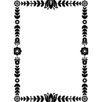 Darice A2 Embossing Folder - Floral Border Frame