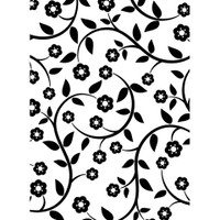 Darice A2 Embossing Folder - Flower and Vines