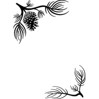 Darice A2 Embossing Folder - Pine Branches