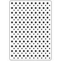 Darice A2 Embossing Folder - Polka Dots Background