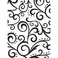 Darice A2 Embossing Folder - Scroll Background