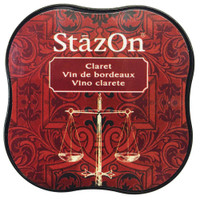 StazOn Permanent Mini Ink Pad - Claret