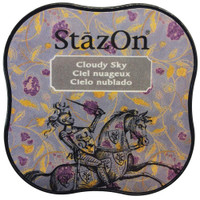 StazOn Permanent Mini Ink Pad - Cloudy Sky