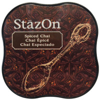 StazOn Permanent Mini Ink Pad - Spiced Chai