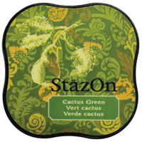 StazOn Permanent Mini Ink Pad - Cactus Green