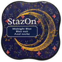 StazOn Permanent Mini Ink Pad - Midnight Blue