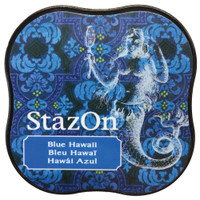 StazOn Permanent Mini Ink Pad - Blue Hawaii