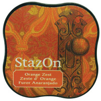 StazOn Permanent Mini Ink Pad - Orange Zest