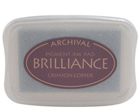 Brilliance Pigment Ink Pad - Copper Crimson