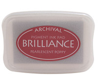 Brilliance Pigment Ink Pad - Pearlescent Poppy