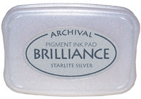 Brilliance Pigment Ink Pad - Starlite Silver