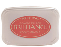Brilliance Pigment Ink Pad - Rocket Red Gold