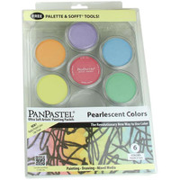 PanPastel Ultra Soft Artist Pastels - Pearlescent Pallet Set, All 6 Colors