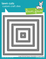 Lawn Fawn Dies - Large Stitched Square Stackables