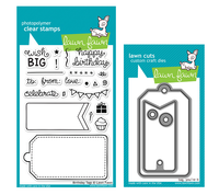 Lawn Fawn Stamps & Dies Bundle  - Birthday Tags
