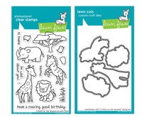 Lawn Fawn Stamps & Dies Bundle - Critters On The Savanna