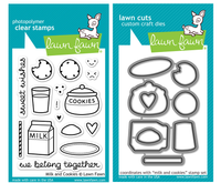 Lawn Fawn Stamps & Dies Bundle - Milk and Cookies
