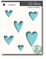 Memory Box Stencils - Solo Hearts