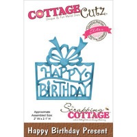 CottageCutz Elites Die - Happy Birthday Present