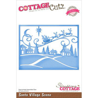 CottageCutz Elites Die - Santa Village Scene