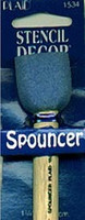 Plaid Spouncer Sponge Stencil Brush - Medium 1-1/4""