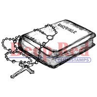 "Deep Red Cling Stamps -  Bible & Rosary 3.25""X1.75"""